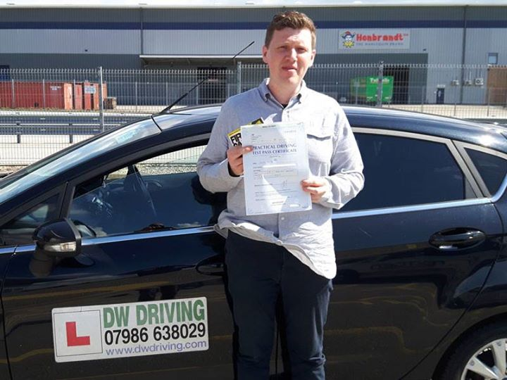 Driving lessons StowmarketVery well done Greig Young who passed his practical driving test on his first attempt with Dave Walker Driving School, with only 1 minor fault, at the Ipswich Driving Test centre on 17 August. Enjoy driving up and down the A14!