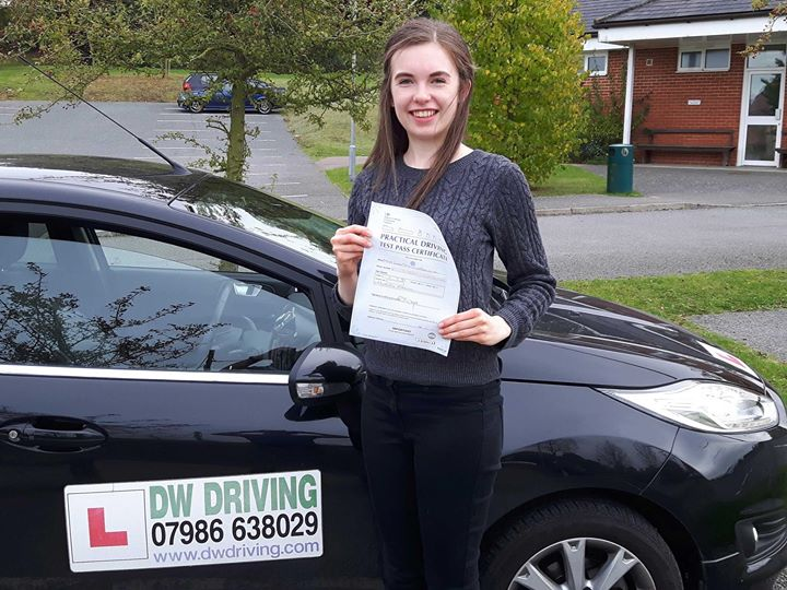 Driving lessons CoddenhamVery well done Leah Golding who passed her practical driving test, at the first attempt with only 2 minor faults, at the Ipswich Driving Test centre on 23 October. So now you have the freedom to drive your car whenever you need to go out, just don't forget that petrol is expensive!!