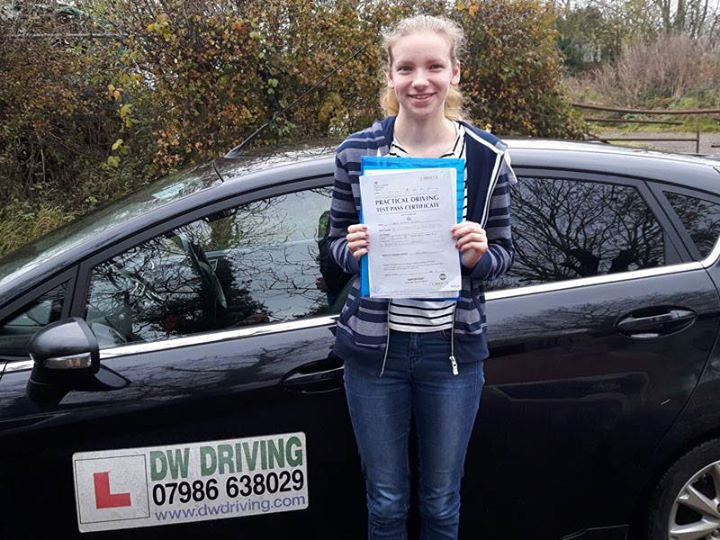 Driving lessons Mendlesham GreenCongratulations to Cara Mann who passed her practical driving test, on her first attempt, at the Ipswich Driving Test centre on 21 November. All you need now is a car so you can go riding on your own.
