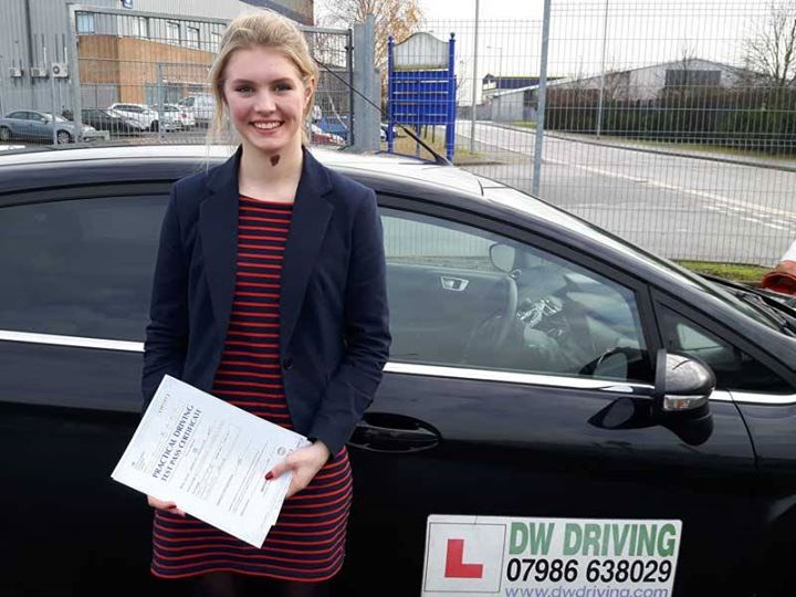 Driving lessons Ipswich High SchoolVery well done Harriett Nott who passed the new format practical driving test, on her first attempt with only 1 minor fault, at the Ipswich Driving Test centre on 13 December. Have a great Christmas and I hope you enjoy providing a  family 'taxi' service.
